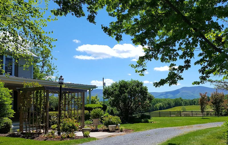 Views from the grounds of Piney Hill Bed & Breakfast and Cottages in Luray, VA
